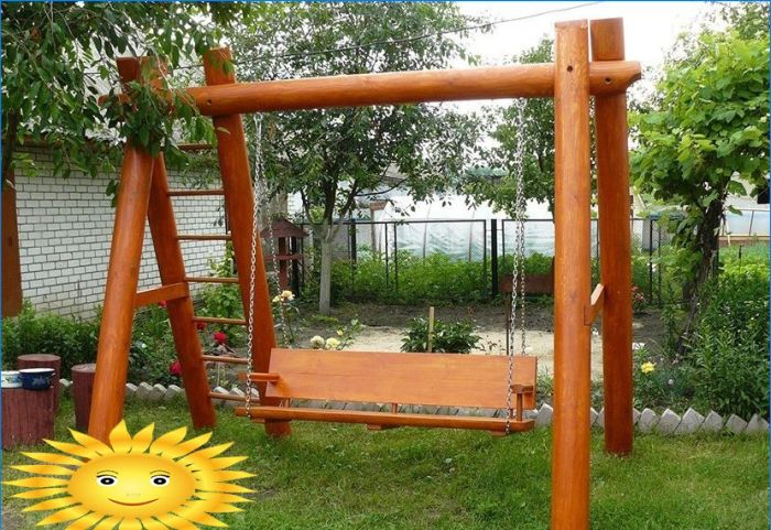 Do-it-yourself-Spielplatz für Sommerhäuser